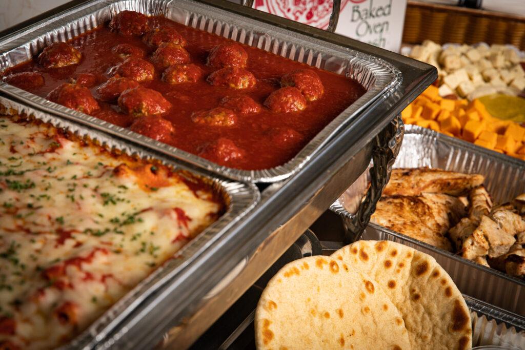 deniros catering spread
